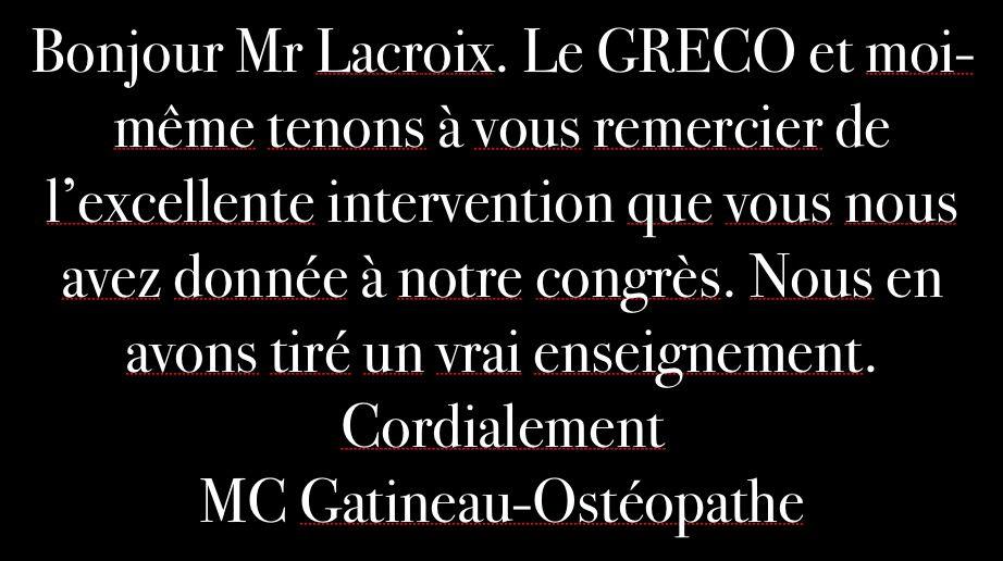 18ème Congres Greco 2014