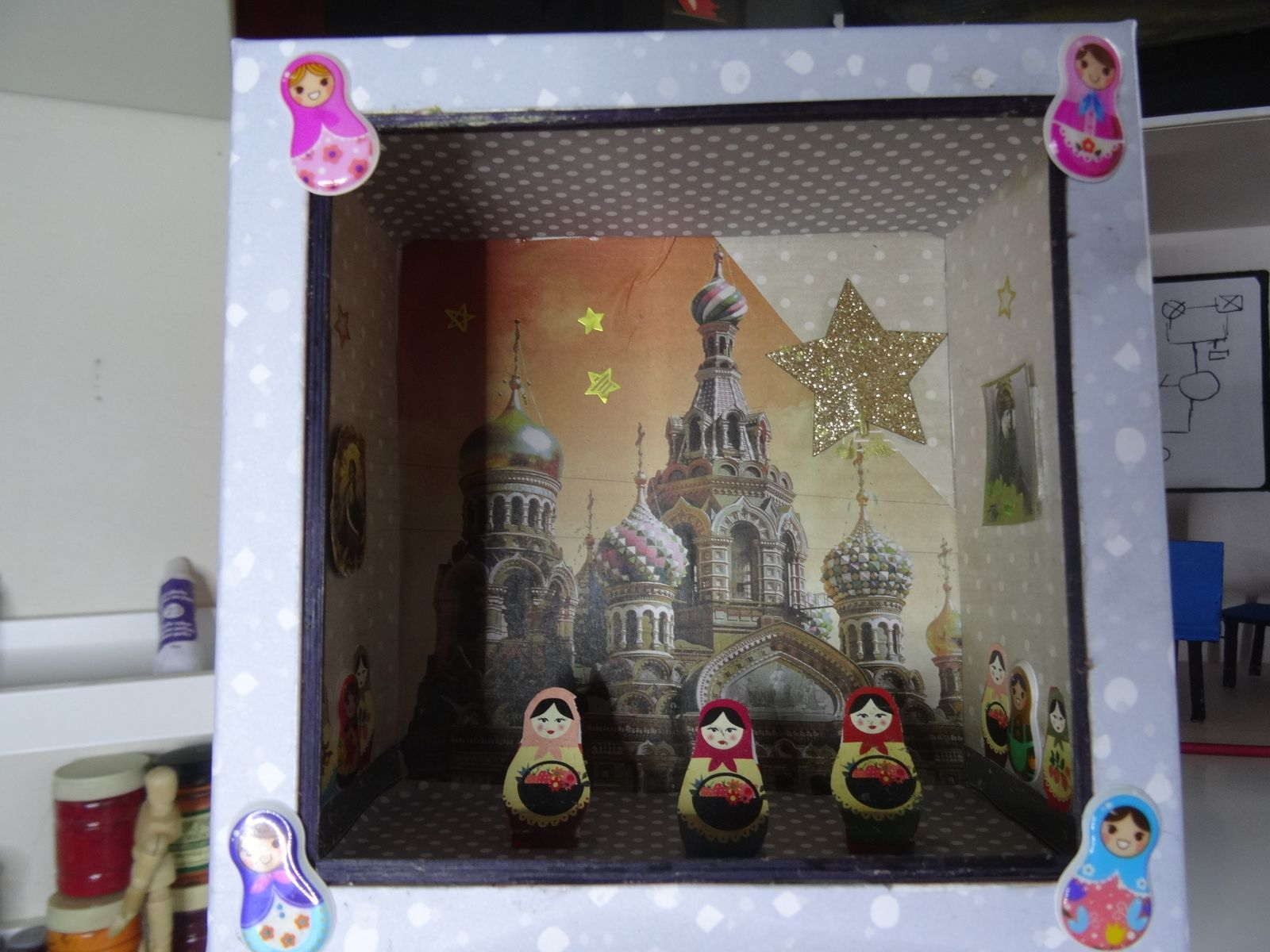 Saint Pétersbourg vitrine boitage Birchbox