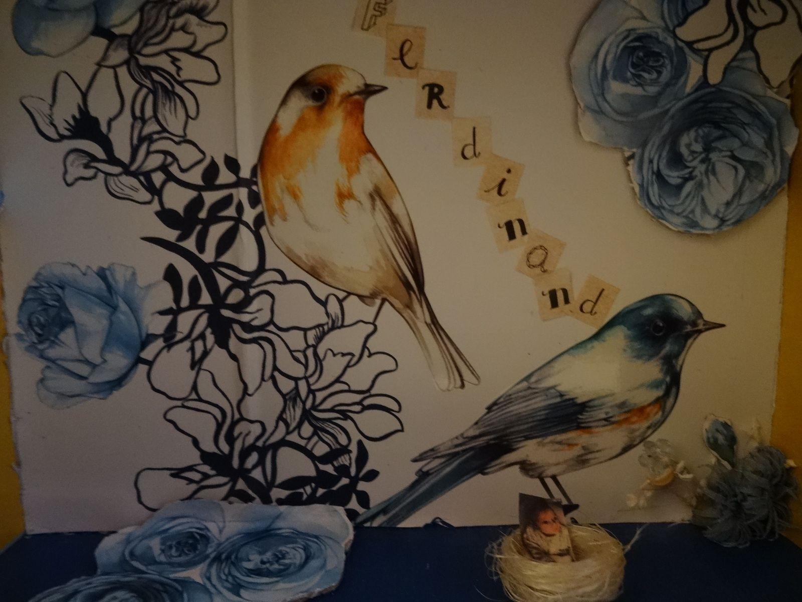 Les zoizeaux et les garcons naissent dans des roses bleues