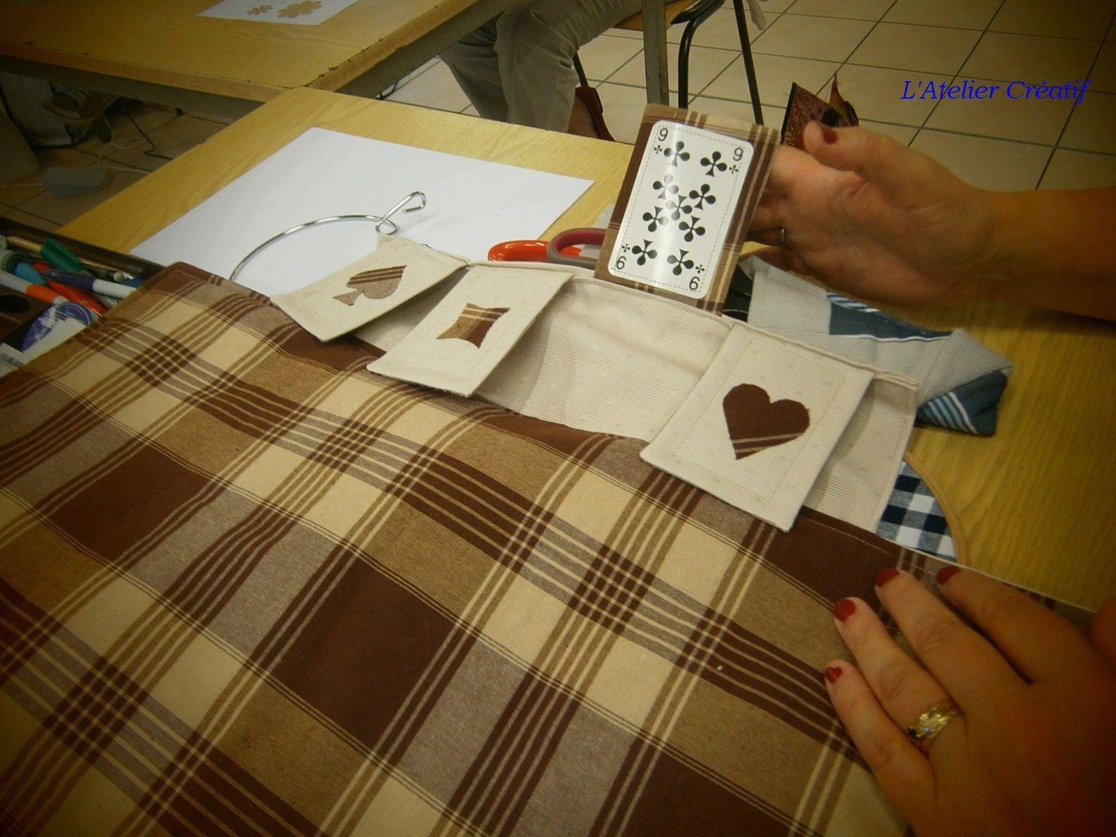 Tapis jeu de cartes de Sylvie et Marie Colombe