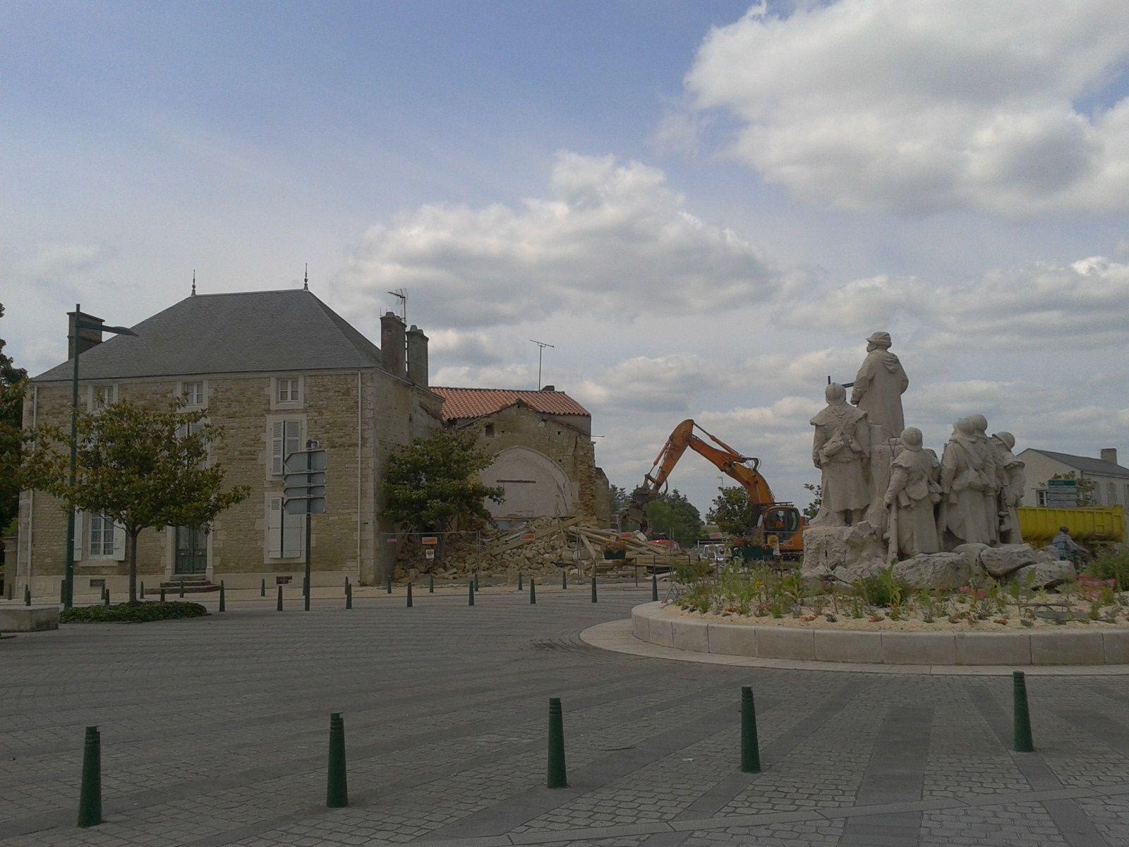 Vue générale du chantier le 26 juin 2013