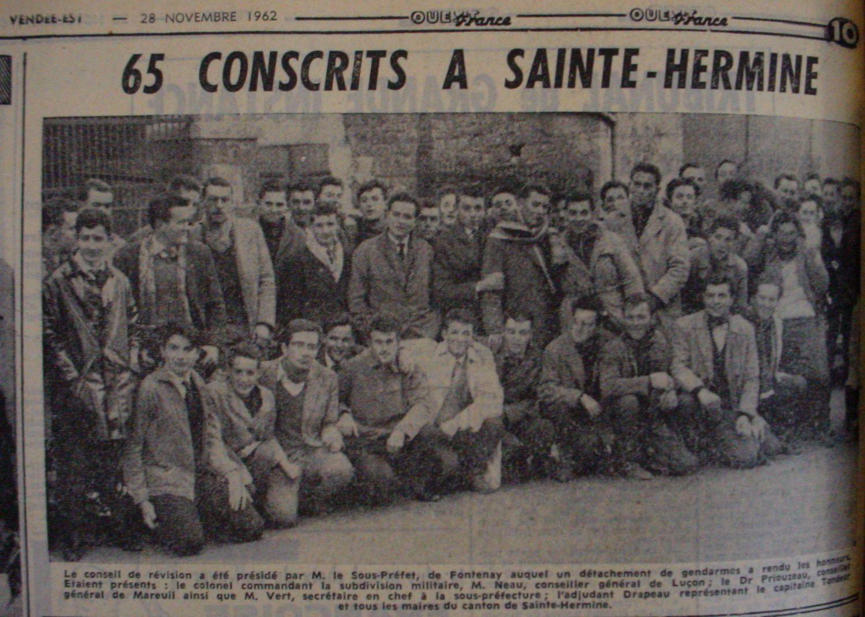 Les conscrits du canton de Sainte hermine