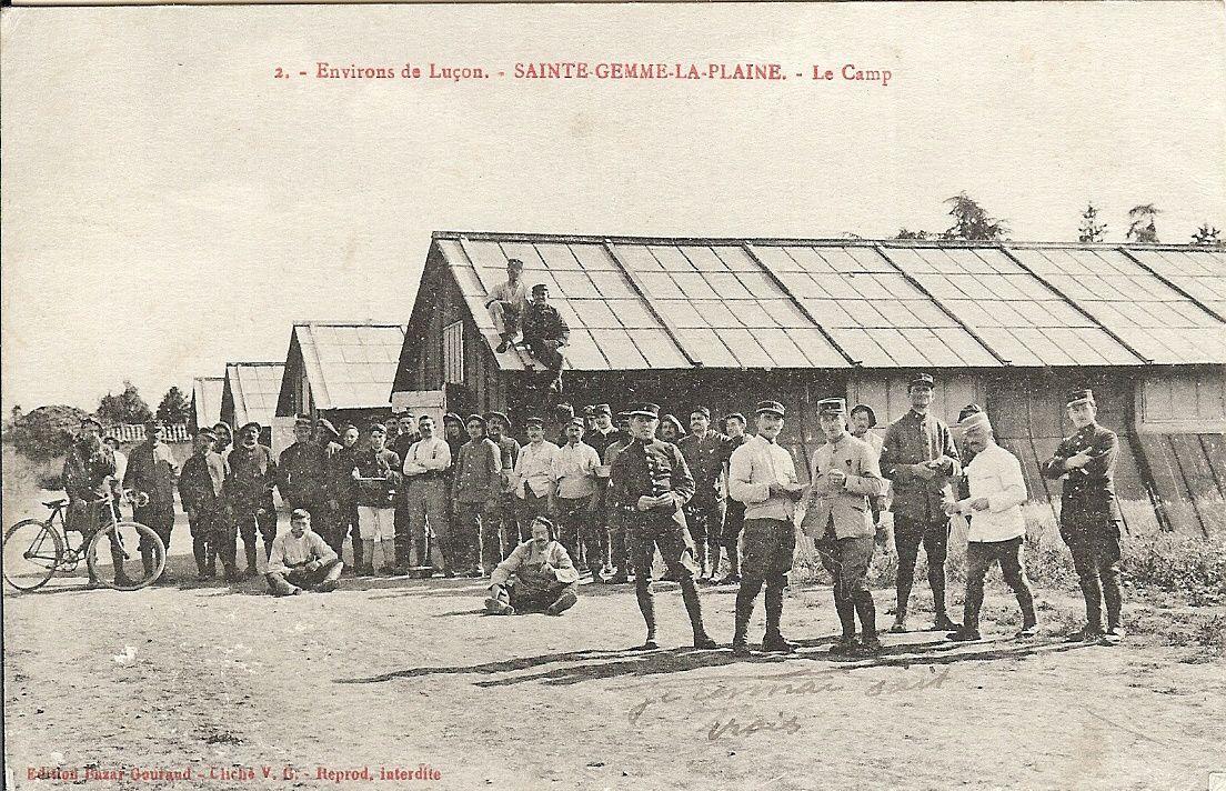 Sainte gemme la Plaine : le camps avant 1916