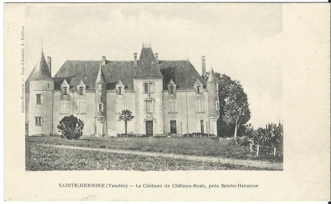 Chateau-Roux indiqué par erreur à Sainte Hermine, il est situé à la Réorthe