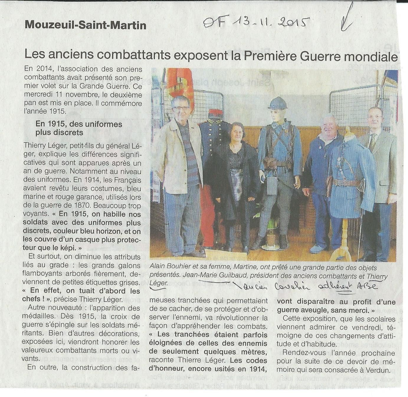 Expo à Mouzeuil St Martin Ouest France 12 11 2015