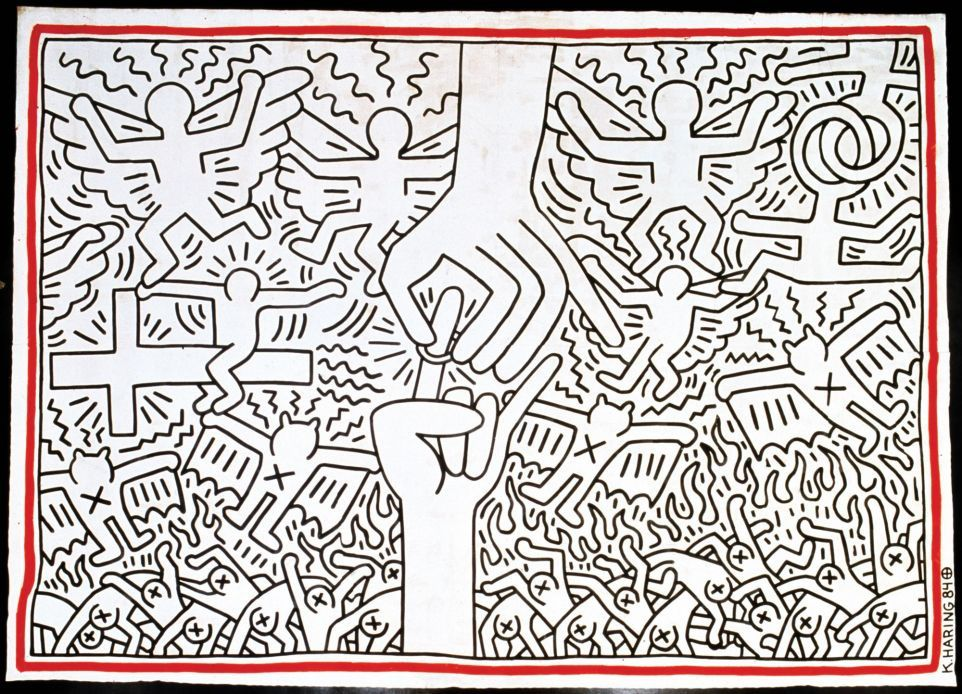 Keith Haring, the political line au 104