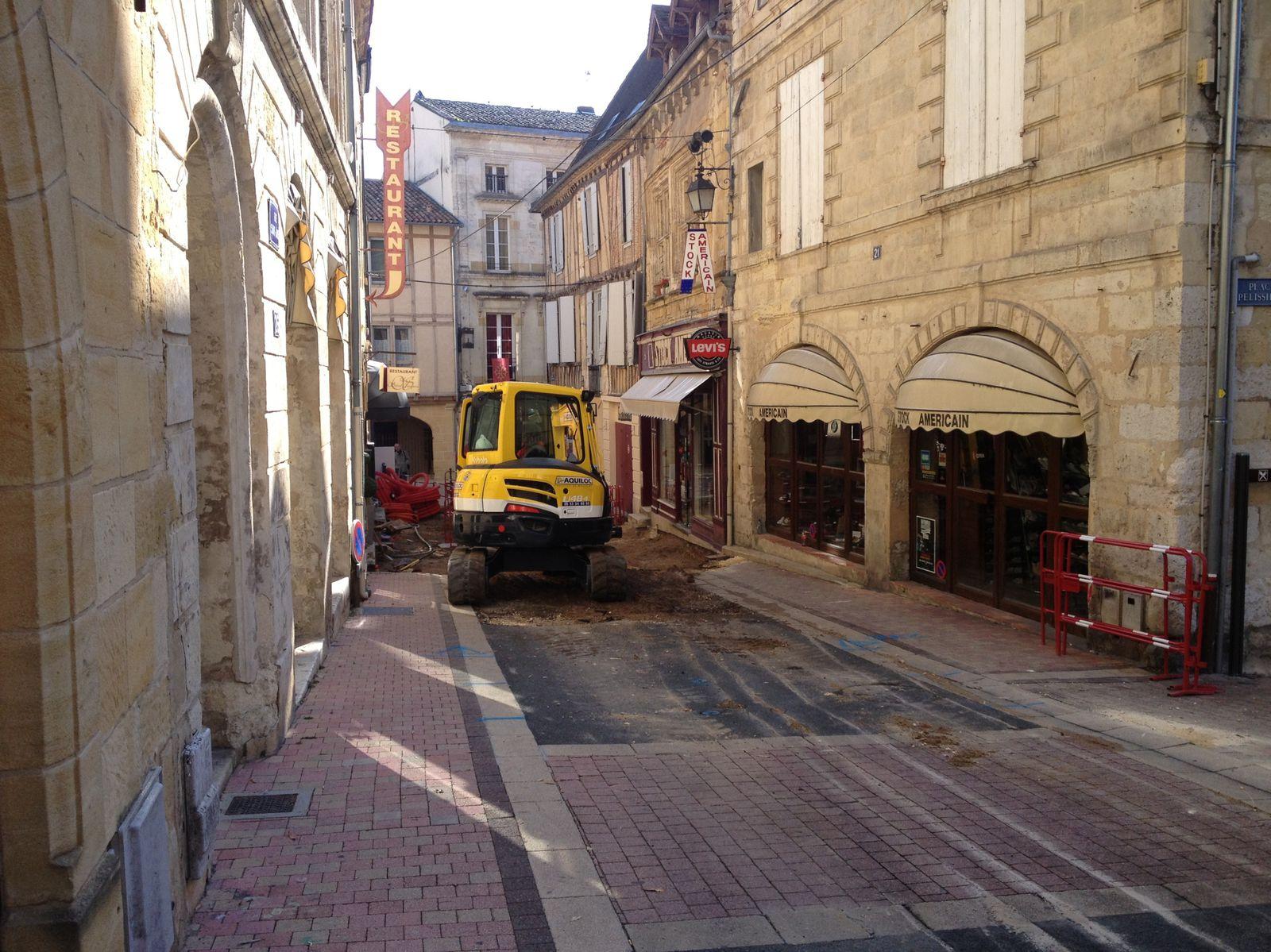 La rue Saint James en travaux