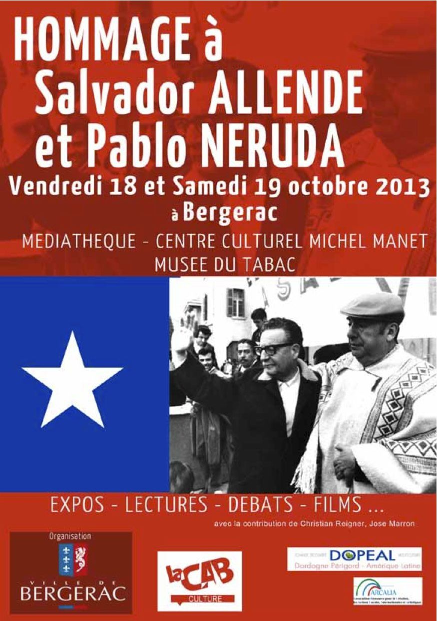 Bergerac rend hommage allende et neruda le blog notes for Piscine municipale bergerac
