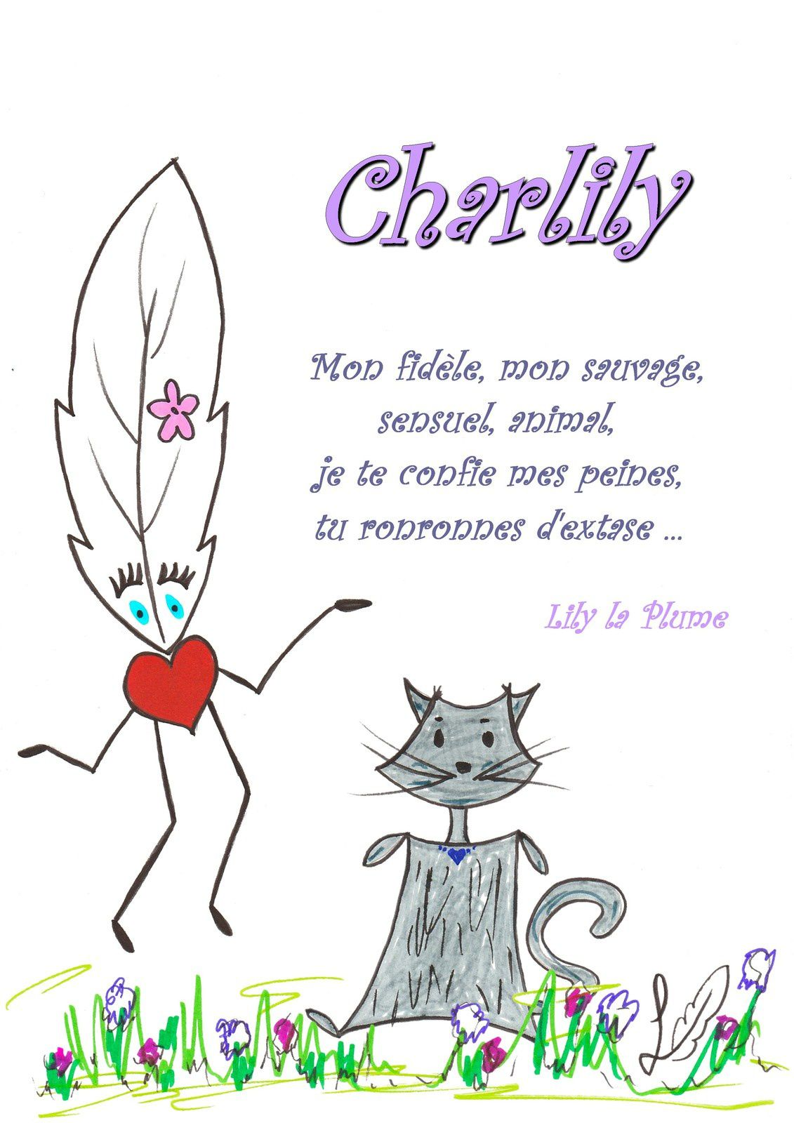Lily la Plume et Charlily    #lilylaplume