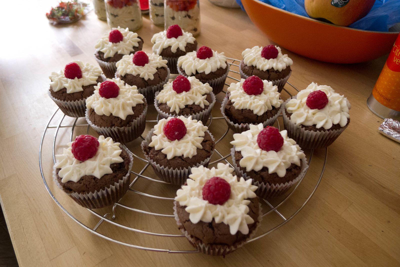 Cupcakes choco framboises