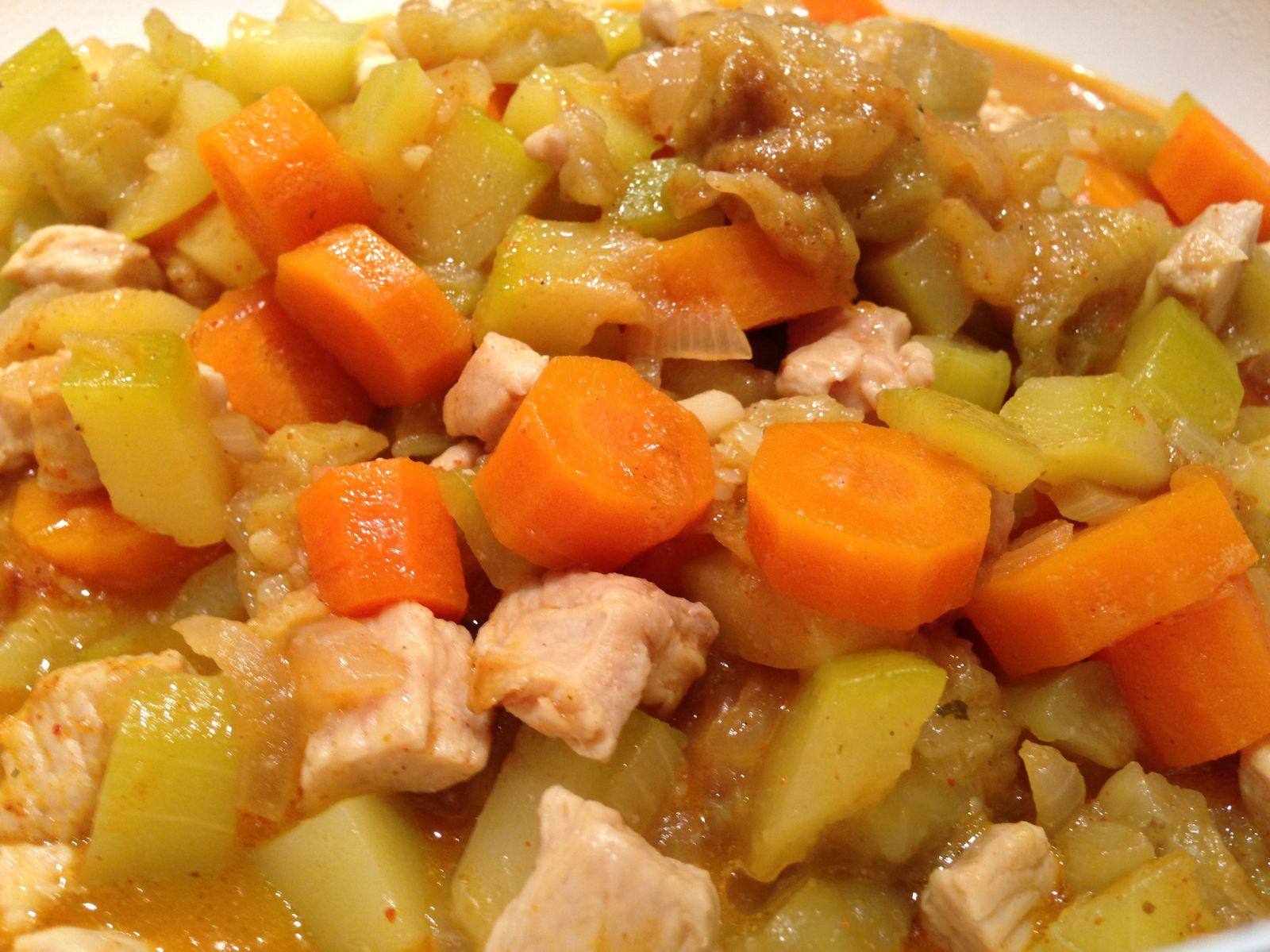 Mijoté de dinde aux légumes