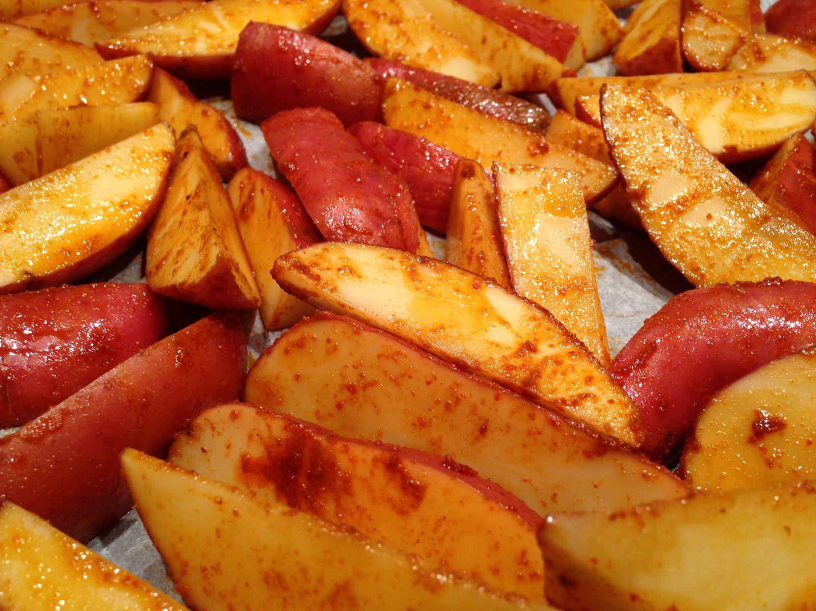 potatoes cuites - crues