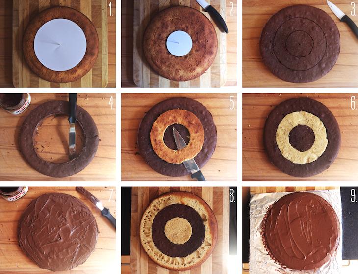 Gâteau damier N&amp&#x3B;B