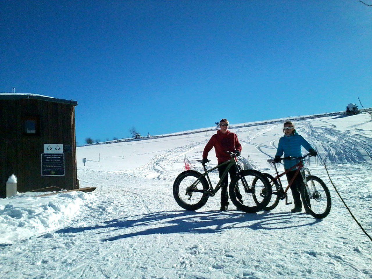 FAT-Bike sur neige !