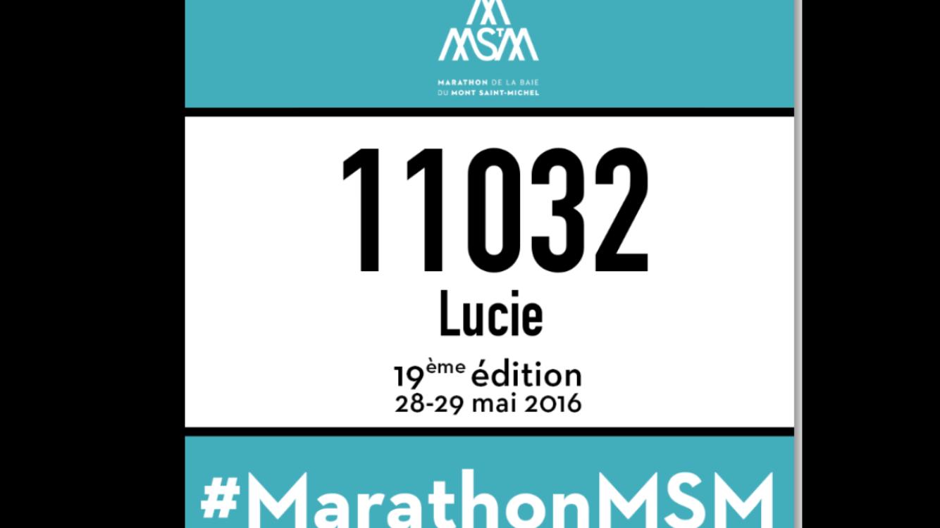 Un Marathon en 2016...