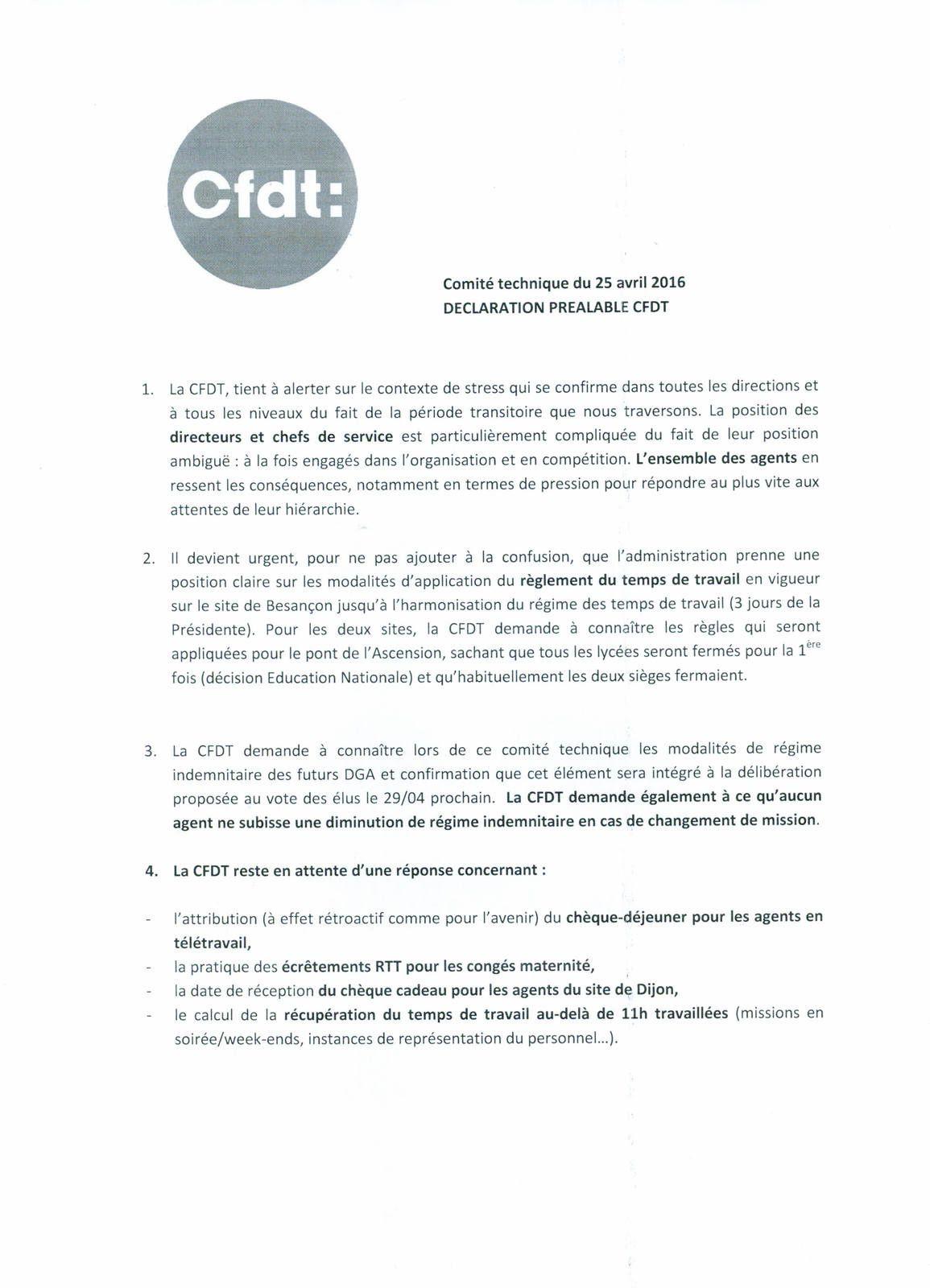 Déclaration préalable CT du 25 avril