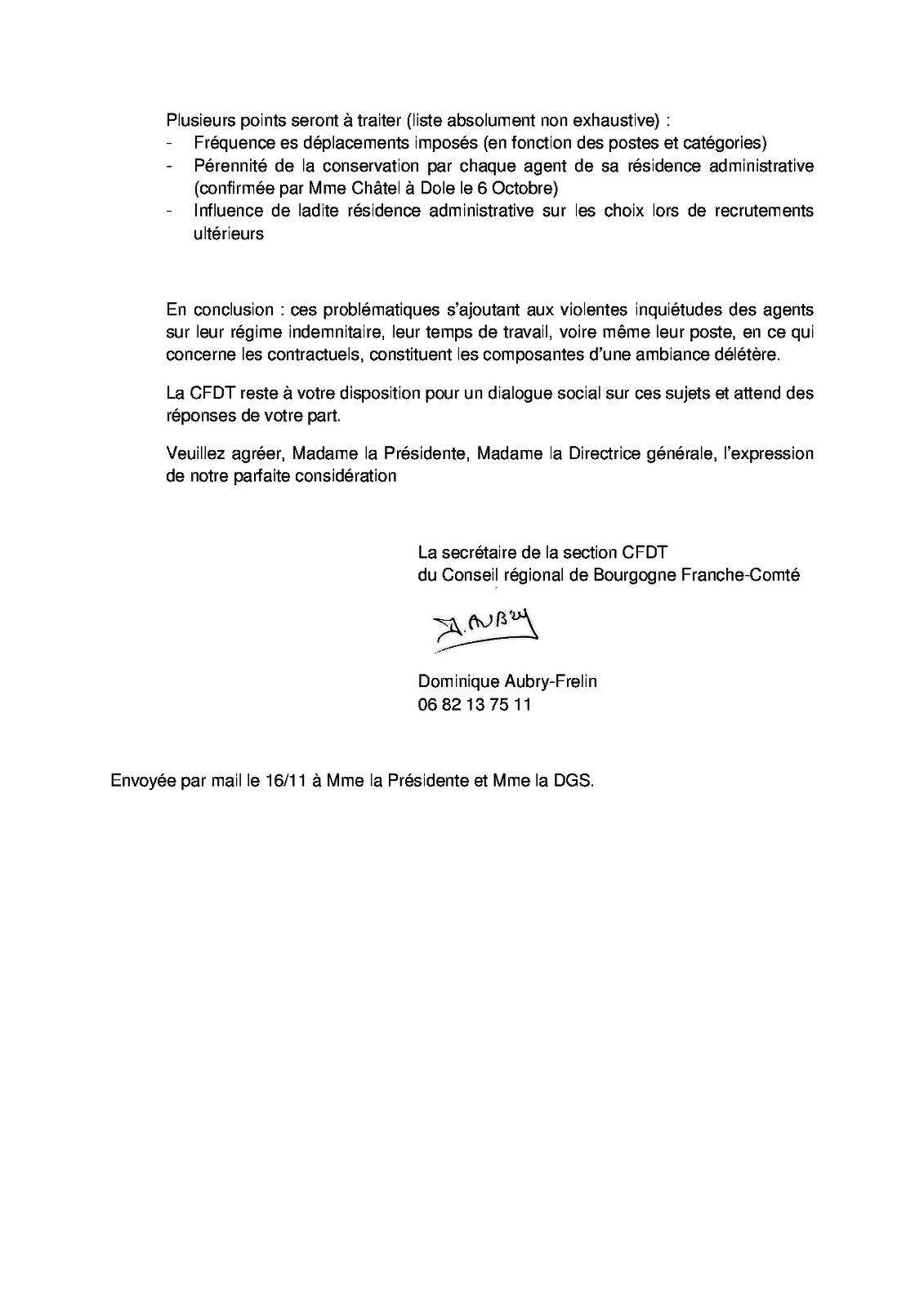 Lettre ouverte : déclaration préalable au CT du 17 novembre 2016