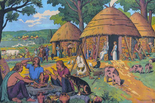 Nos ancêtres les Gaulois vivaient dans des huttes rondes... et portaient des casques avec des ailes...