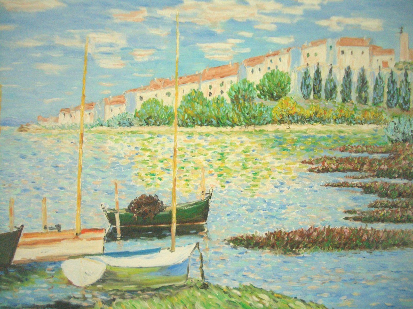 Gérard Forges, l'impressionniste de Port la Nouvelle : Les paysages de Languedoc-Roussillon avec leur lumière sublime, ses étangs et ses plages de la mer Méditerranée touchent constamment cet artiste peintre. Il y a bientôt trente ans, il a choisi le style de l'impressionnisme.