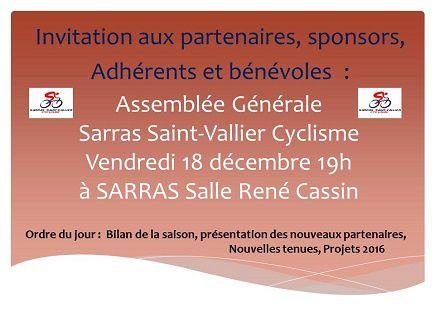Invitation à l'Assemblée Générale du SSVC