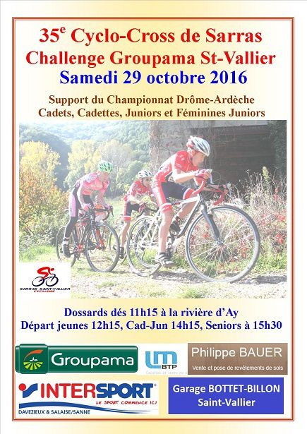 35e Cyclo-Cross de Sarras le 29/10