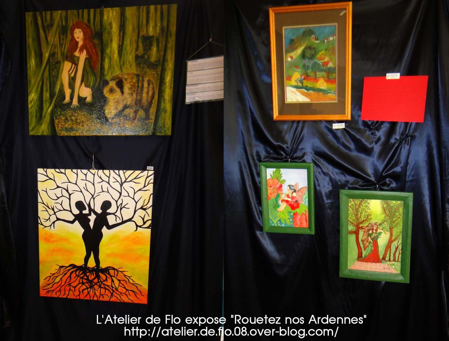 8 gagnants à la Tombola des tabelaux des Artistes de l'Atelier de Flo