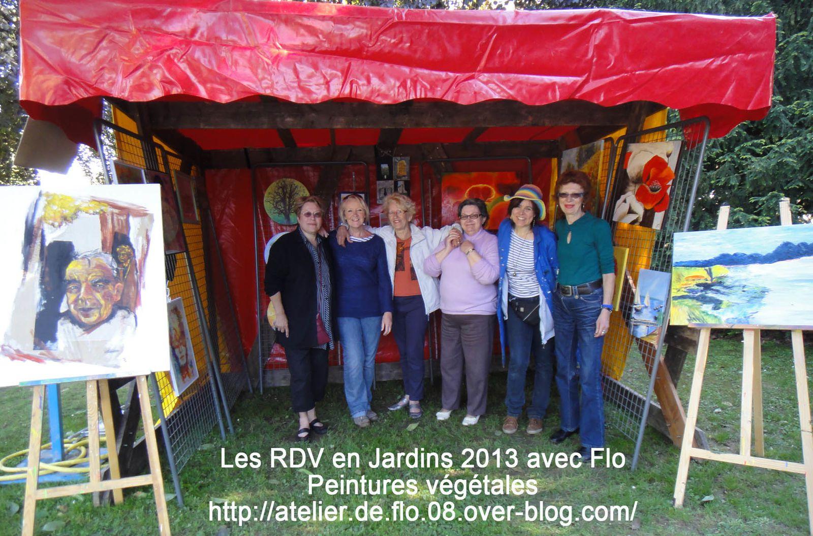 Les RDV en Jardin avec Flo et la peinture végétale