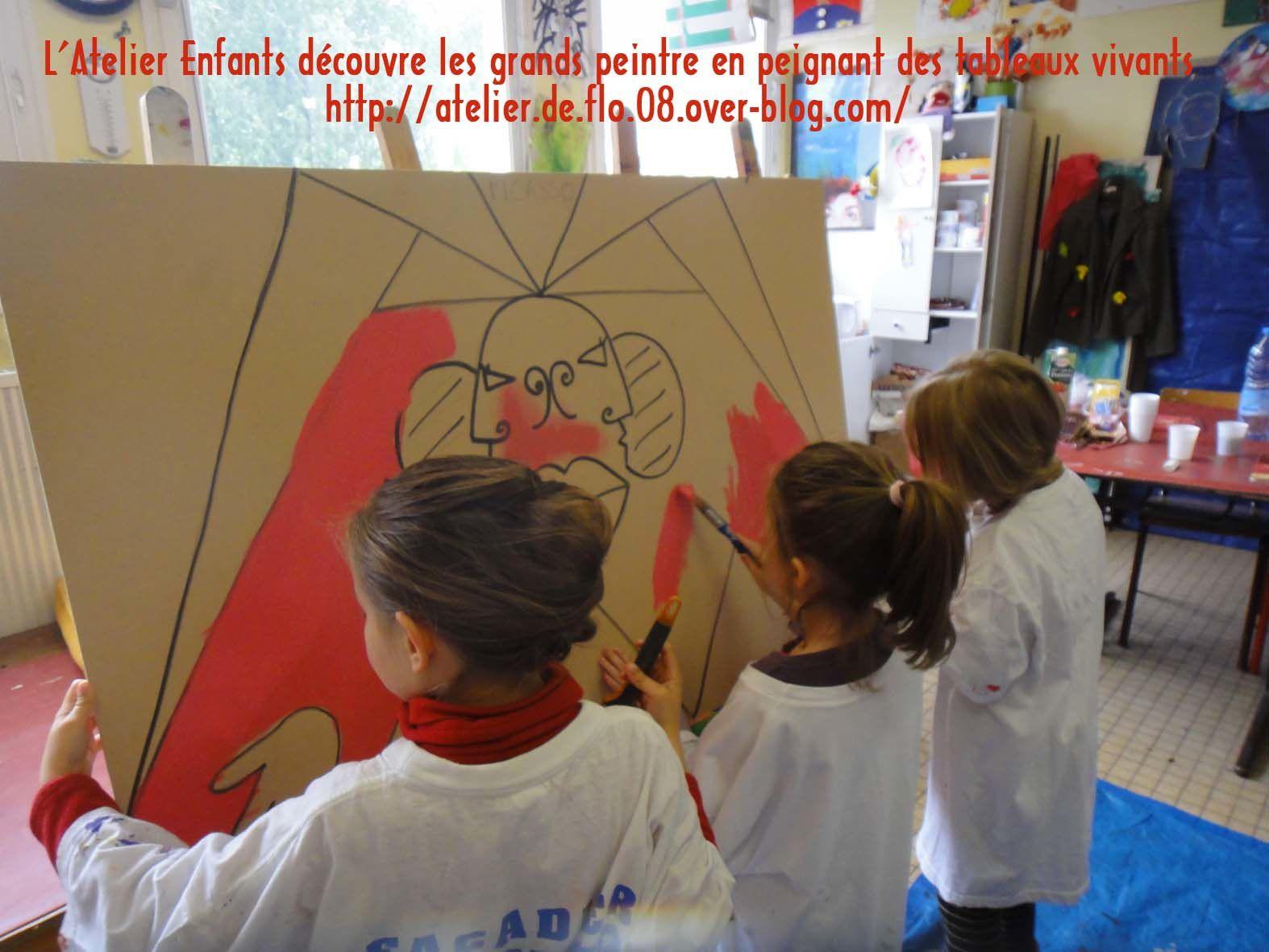Les 2 ateliers avec les enfants à l'oeuvre