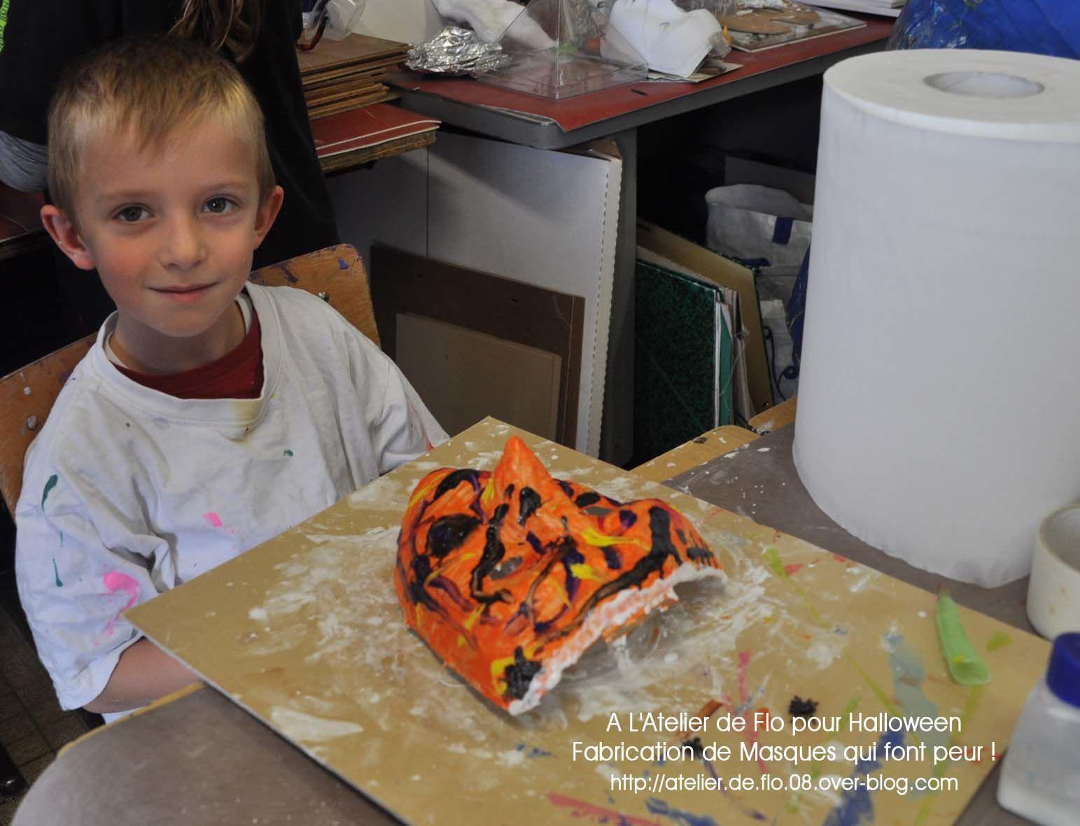 L'Atelier Masques d'Halloween avec l'atelier de Flo