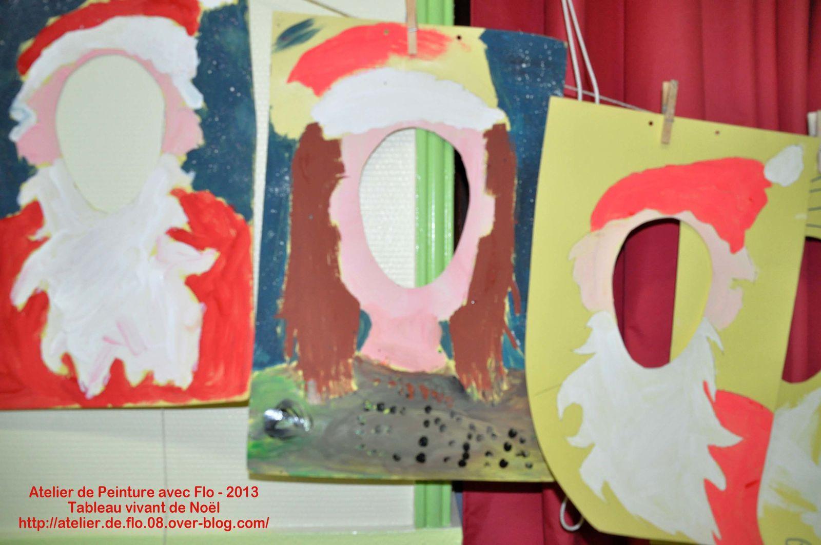 1er atelier: peinture des tableaux vivants + séchage !