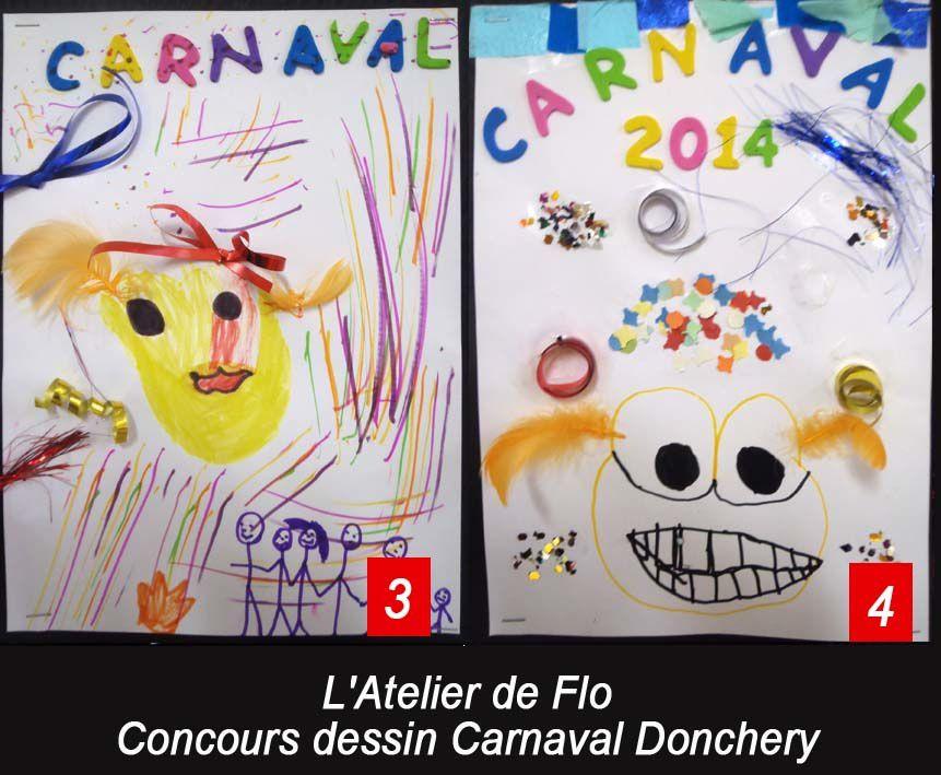 """A vos votes pour le dessin qui représente le mieux le Carnaval 2014 """"en couleur et en sourire"""""""