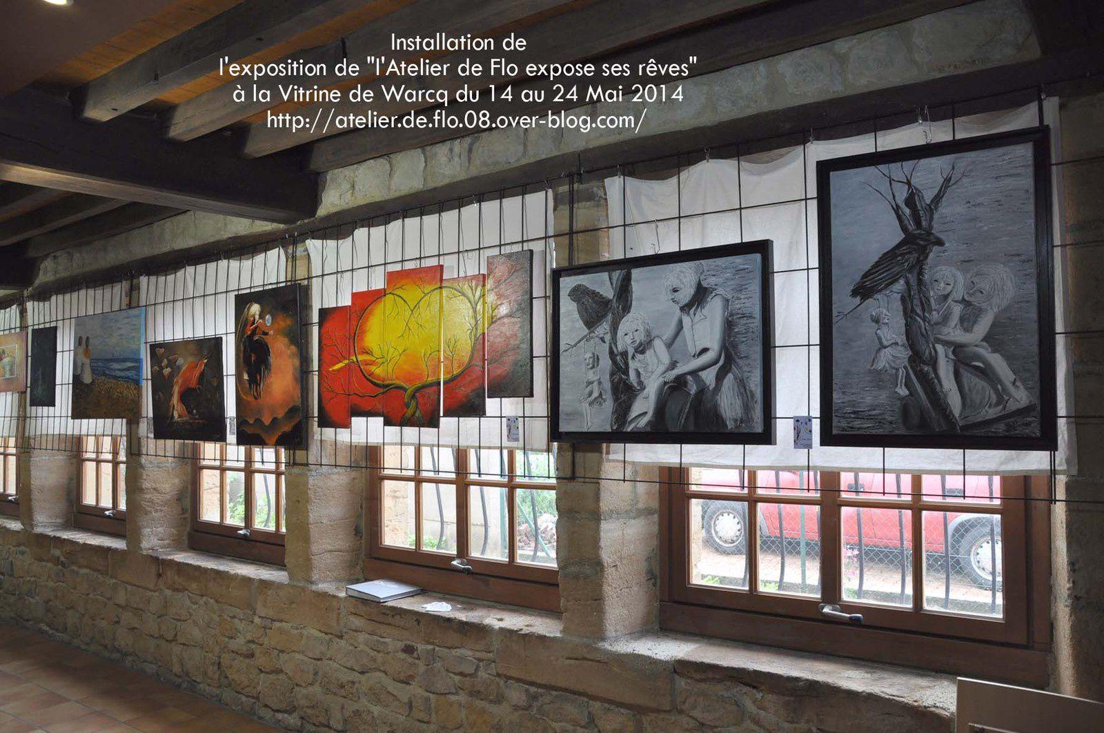 Les Tableaux réalisés par les artistes de L'Atelier de Flo