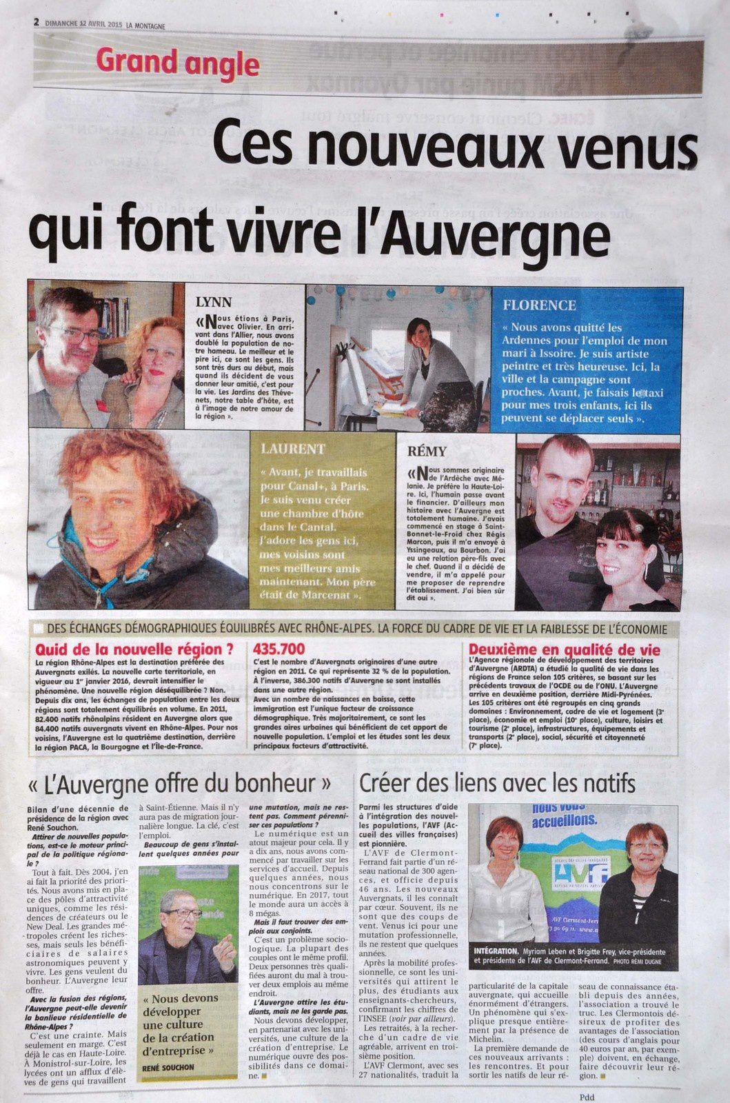 Journal La Montagne - Artiste FloM
