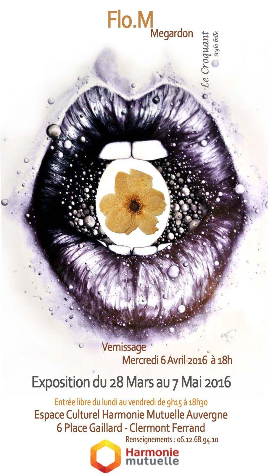Exposition- dessins stylo bille et gravures - Flo.M - Espace Culturelle Harmonie Mutuelle -Place Gaillard Clermont Ferrand 1er étage