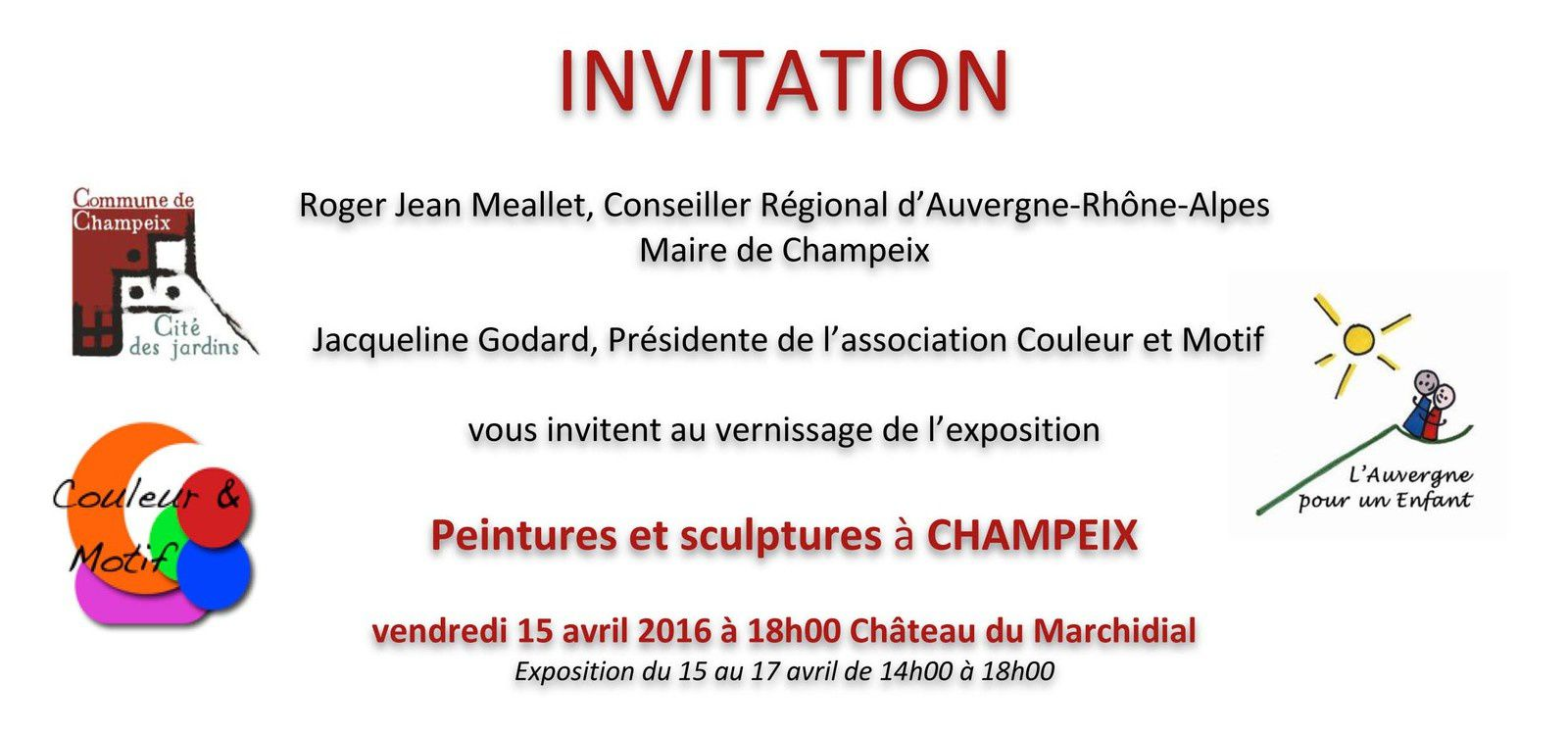 Vernissage le vendredi 15 avril 2016 à 18h