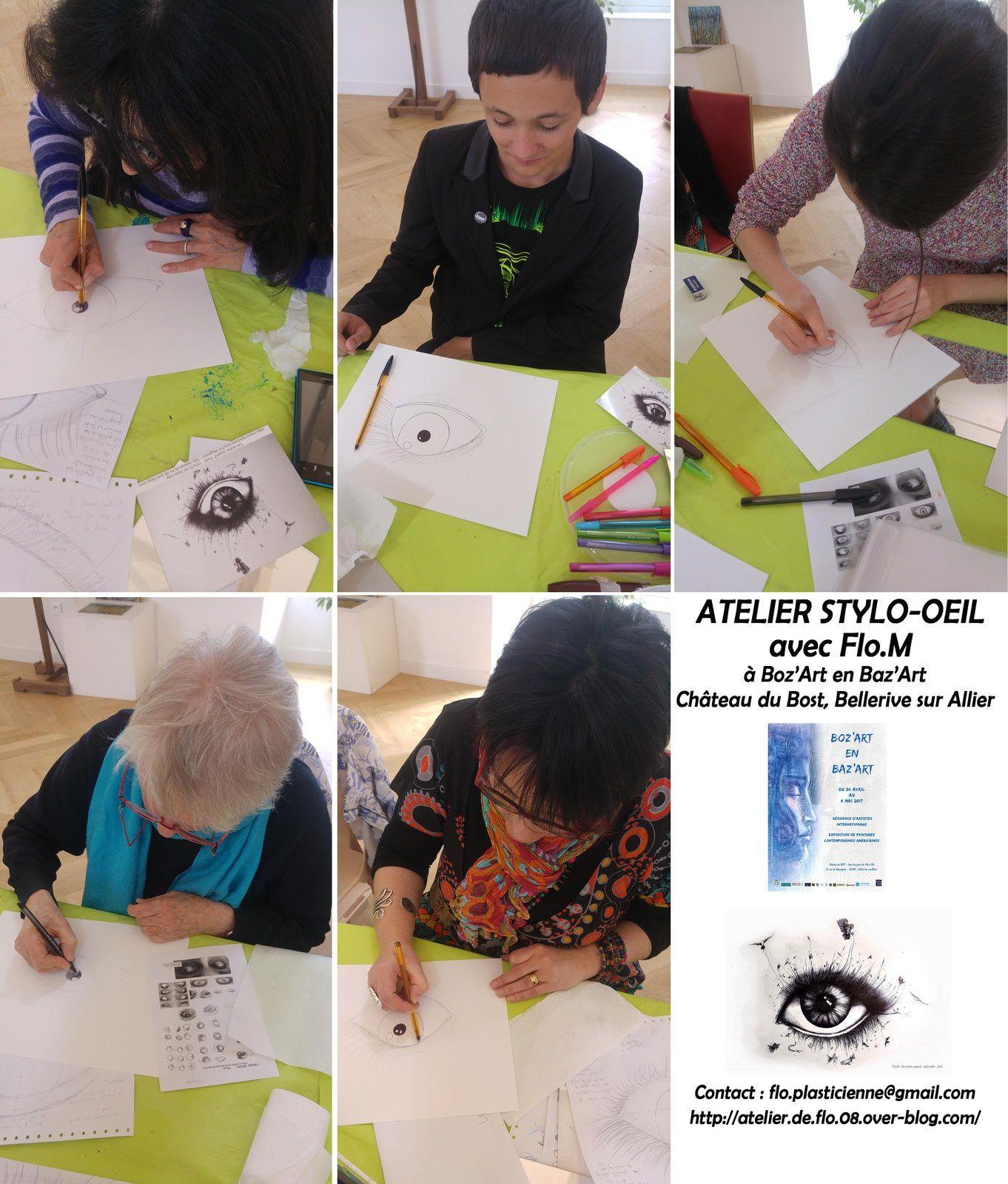 Les dessinateurs du stage stylo -oeil avec Flo.M - Clermont Ferrand : flo.plasticienne@gmail.com