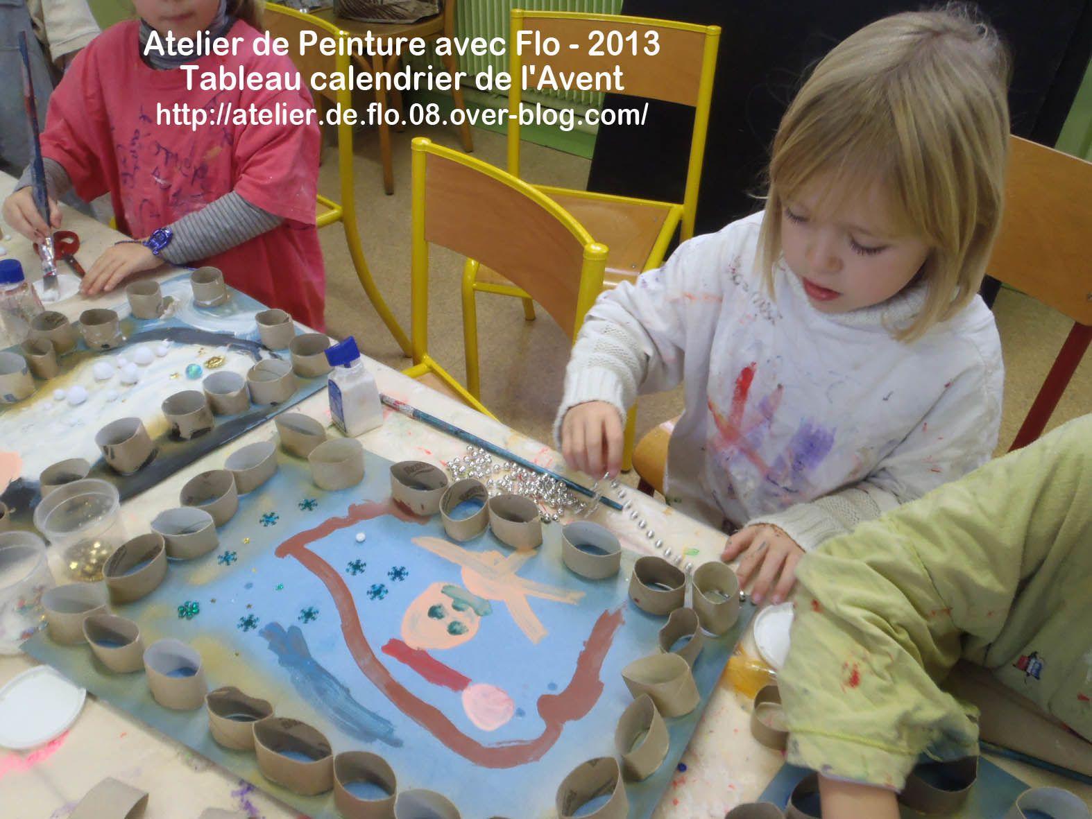 Les jeunes artistes de l'école à l'oeuvre