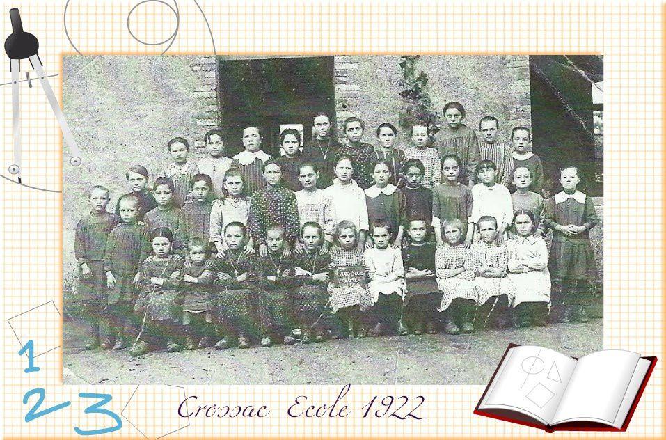 Crossac photo de classe 1922 .