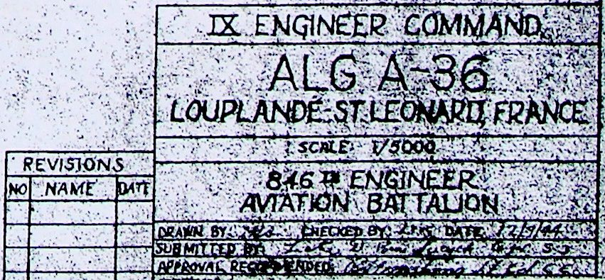 Août 1944 : l'aérodrome américain A-36 à Louplande (Sarthe)