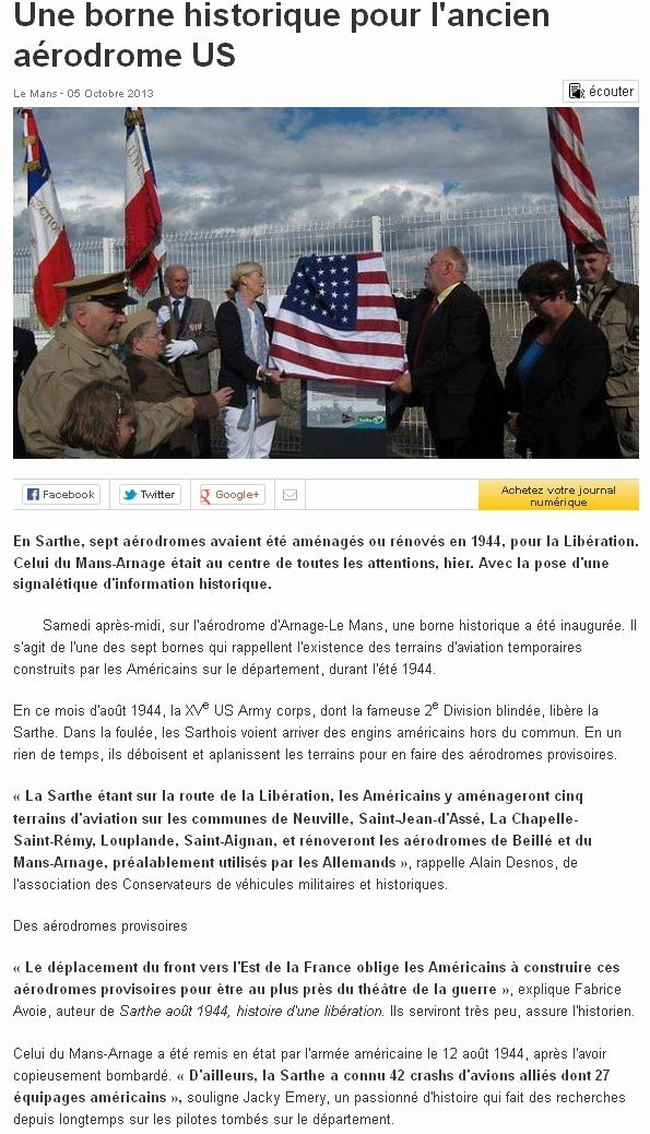Ouest-France, 5 octobre 2013
