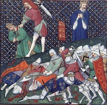 La capture de Jean II le Bon lors de la bataille de Poitiers (1356)