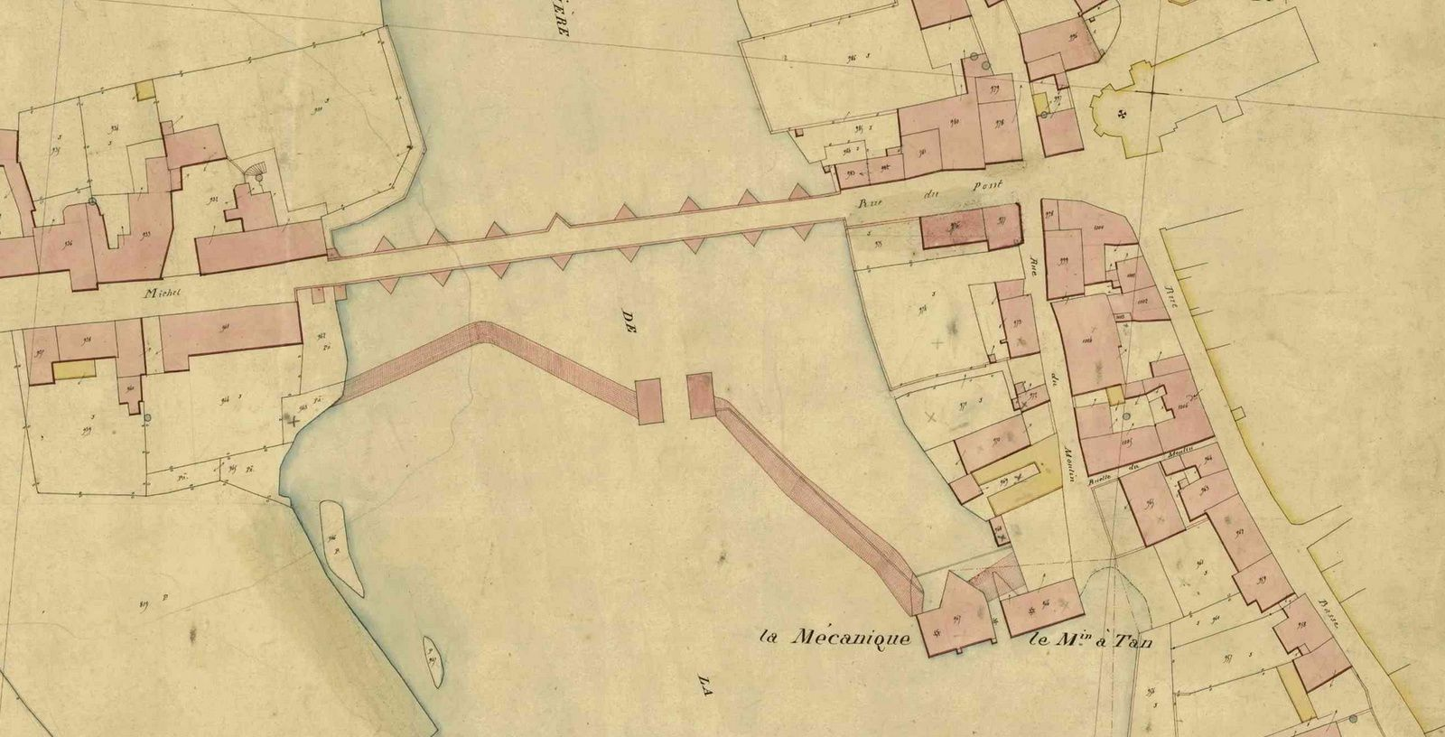 Cadastre 1843, section A4
