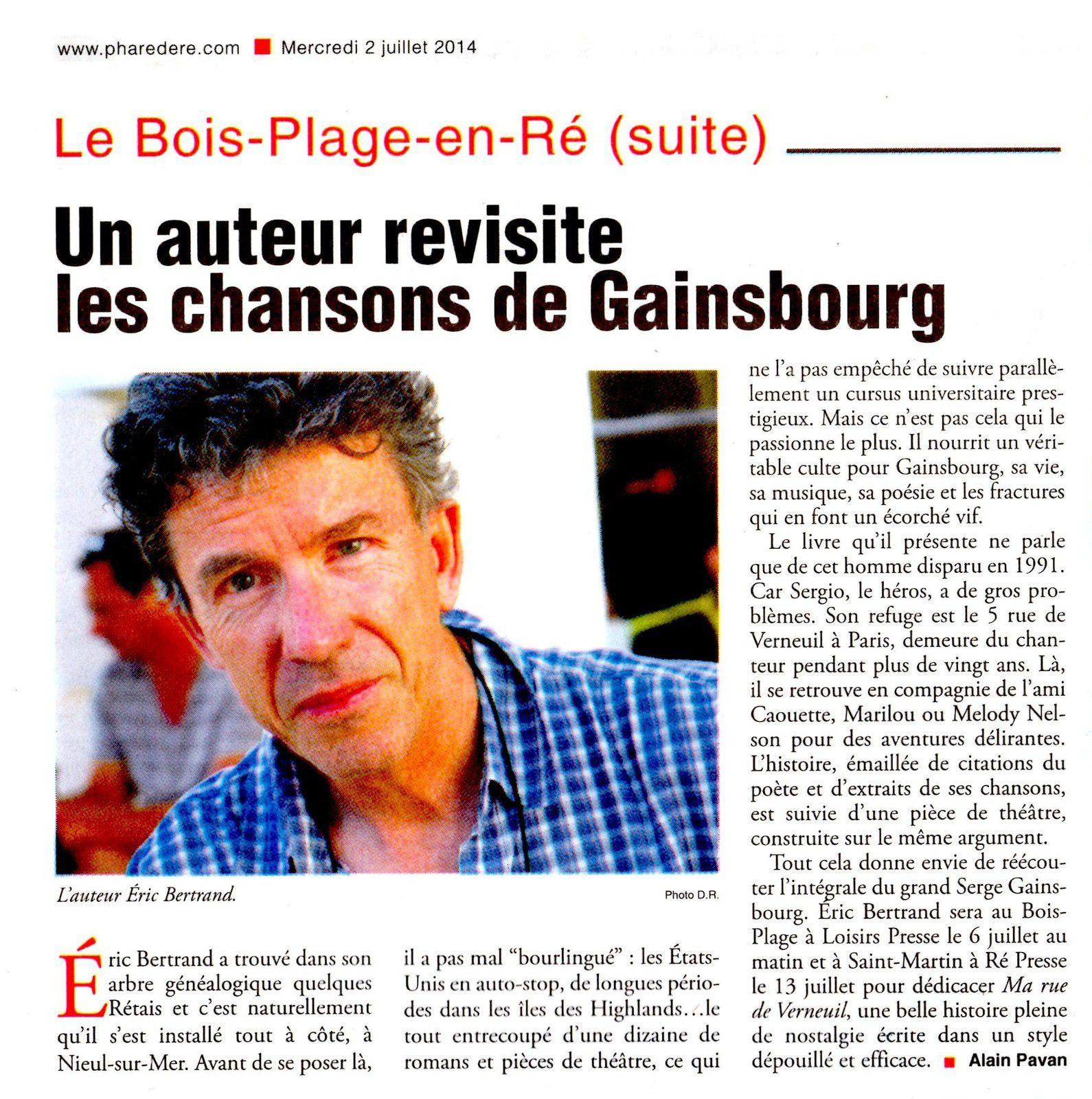 Phare de Ré Gainsbourg Rue de Verneuil