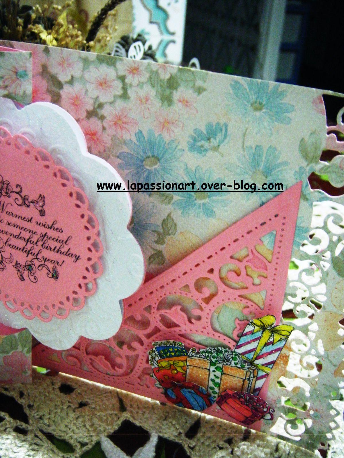 carte swing orchidées pour un anniversaire: