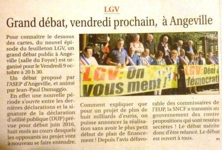 La réu d'Angeville sur le Petit Journal