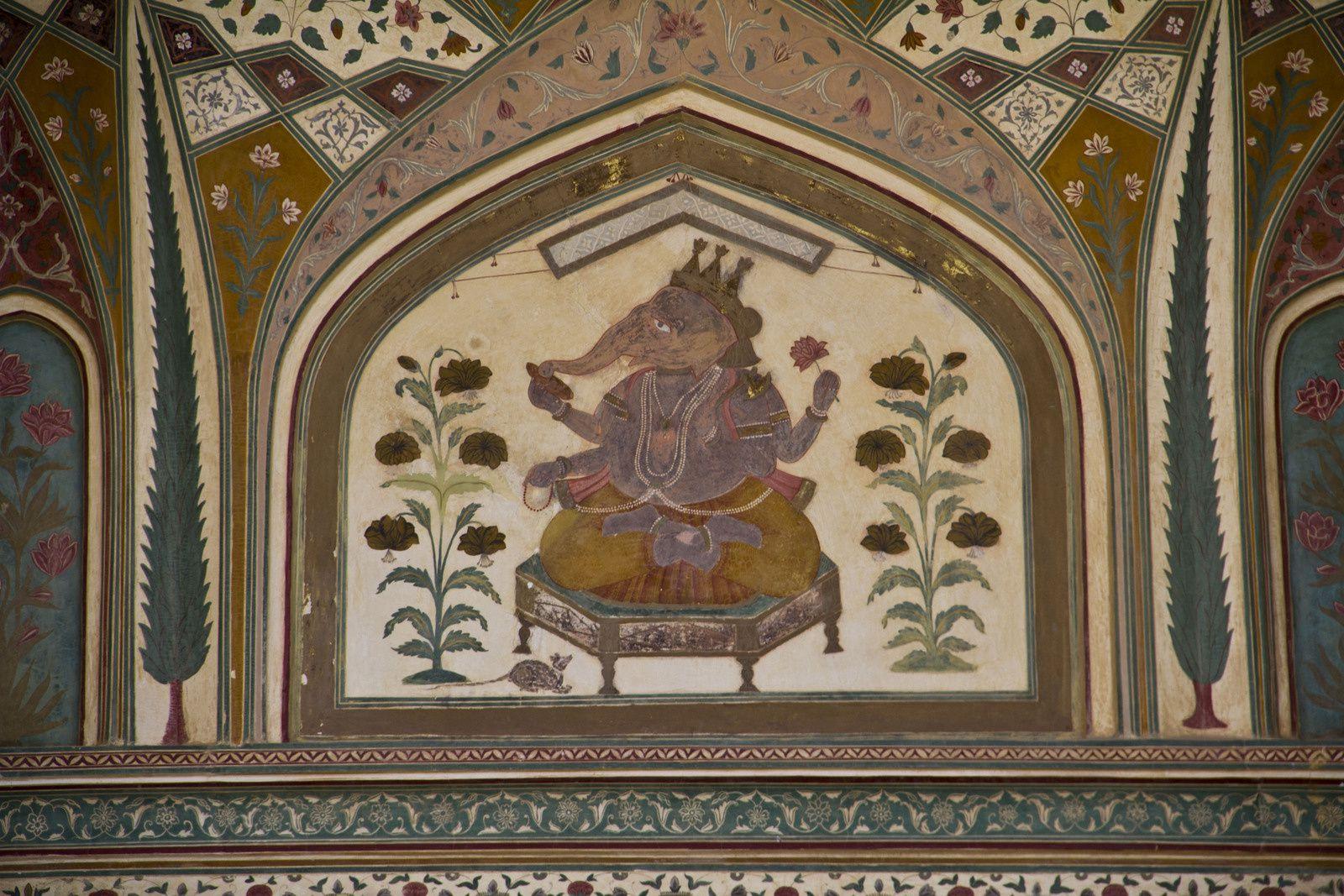 Vues du Diwan-i-Am, de la Ganesh Pol, ...