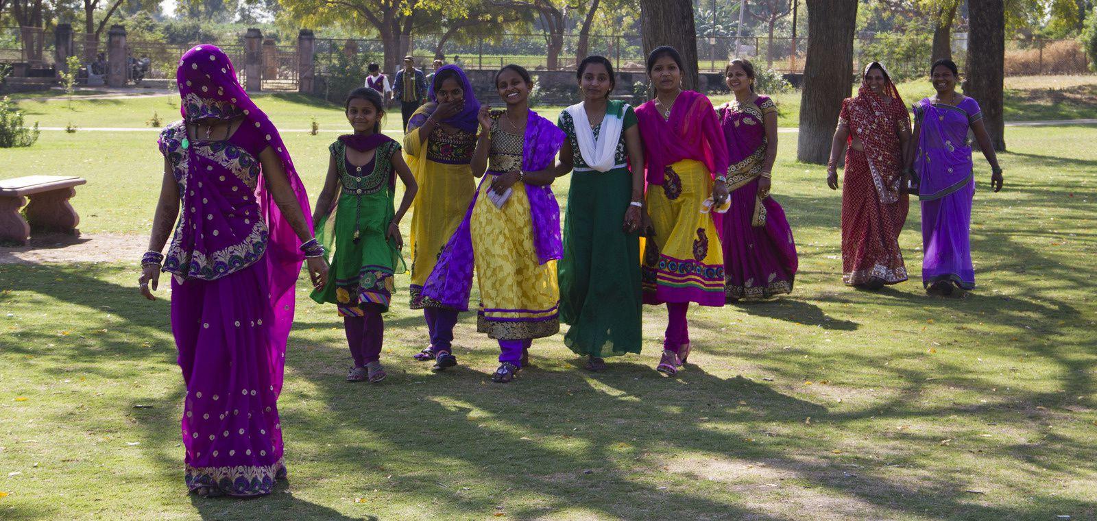 Personnes prises en photographie au Rani Ki Vav