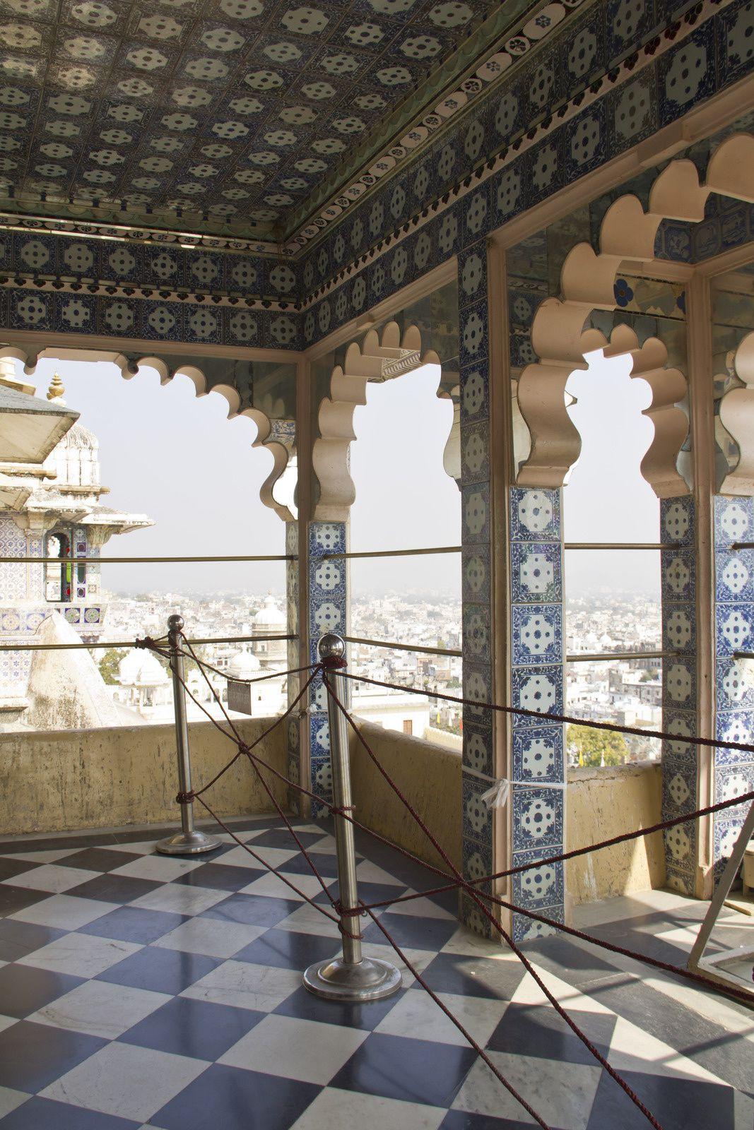 Vues du Chini-ki-Chita Mahal.