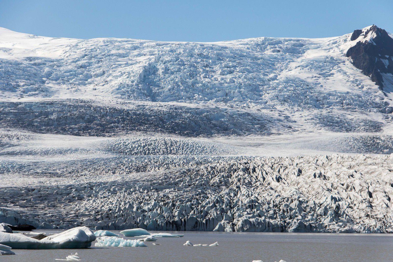 Vues de lagunes glaciaires.