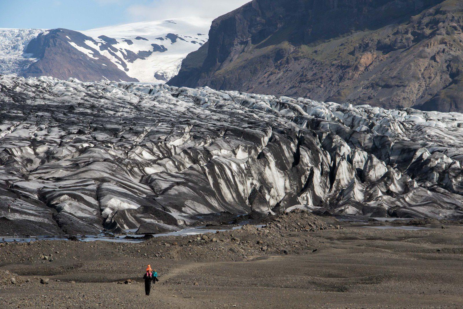 Le glacier Skaftafellsjökull qui est une langue du Vatnajökull